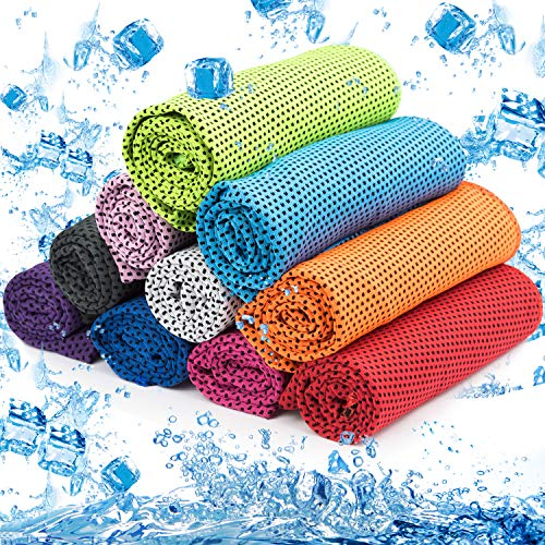 MENOLY 10 Pack Cooling Towel Ice Towel Workout Towel Microfiber