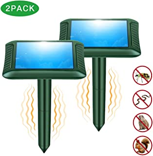 Snake Repellent, 2019 Newly Upgraded Ultrasonic Snake/Mole/Gophers Repeller Solar Powered for Outdoor Lawn Garden Yard - 2 Pack