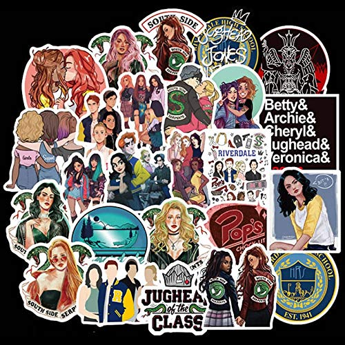 50pcs/Pack Waterproof Riverdale Stickers Skateboard Luggage Suitcase Motorcycle Laptop Phone Decal Stickers Kids Classic Toy