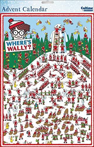 Calendario de Adviento ilustrado de Caltime Where e's Wally de la gama – Muñeco de nieve gigante – acabado con impresionante brillo barniz – apto para adultos y niños (WDM-435546)