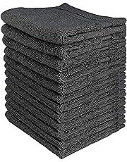 Utopia Towels - 12 Toallitas de algodón (30 x 30 cm, Gris)