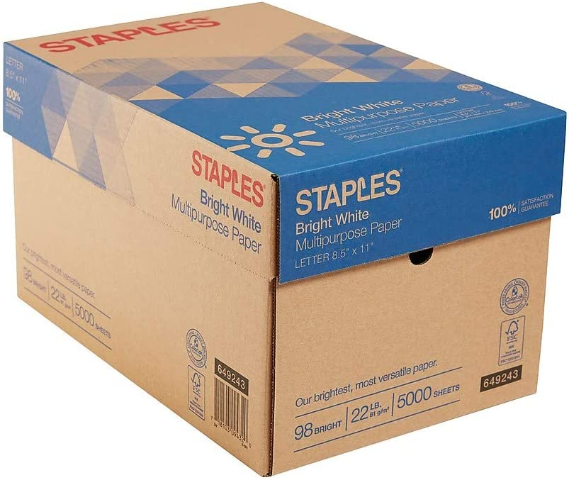 Staples 649243 8.5-Inch x 11-Inch Multipurpose Max 78% OFF Very popular 22 98 B lbs Paper