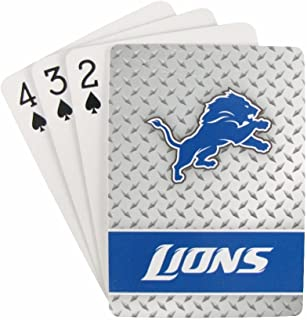 Detroit Lions Diamond Plate Playing Cards
