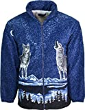 S4 Clothing Lobo Chaqueta de Forro Polar con Forro Interior y Cremallera Frontal Cierre