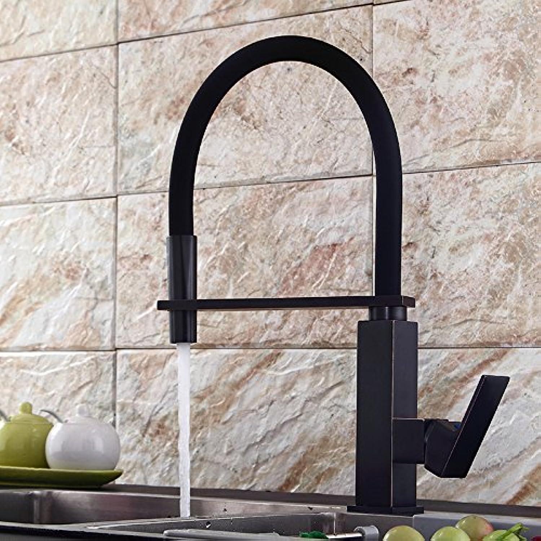 AGECC Beste Wahl Duschbad Set Retro Schwarz Bad WasserhahnAlle Kupfer Einfache Dreh Küche Waschbecken Heier Und Kalter Wasserhahn B