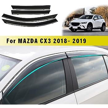 Deflettori Aria per M azda M3 Hatchback 2011-2015 Finestra Laterale in-Canale Ventvisor Antiturbo Antivento Visiera Laterale Acrilico