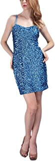 whitewed Short Womens Sparkly Bandeau Sequin Paillettes Bodycon Vegas Dresses
