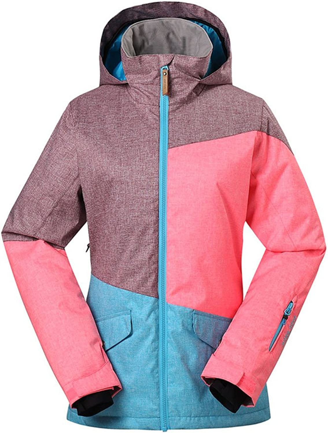 LiBridal Women's Multicolord Ski Suits,High Windproof Waterproof Technology Snow Jacket Coat