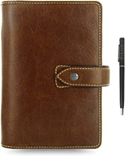 $129 » Filofax Malden Leather Organizer Agenda Calendar Bundle with DiLoro Ballpoint Pen (Ochre 2020-2021 with Pen, Personal Pape...