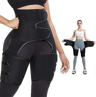Sponsored Ad - Huanchenda Waist Trainer for Women 3 in 1 Home Exercise High Waist Enhancer Hip Lumbar Support Waist and Th...