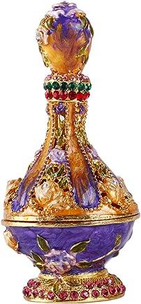 Yufeng – Botella de Perfume clásica con bisagras Pintada a Mano con Patrones de joyería,