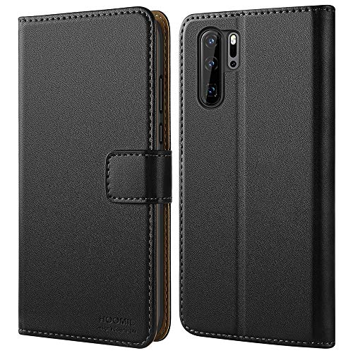 HOOMIL Huawei P30 Pro Case, Huawei P30 Pro Wallet Case Premium Leather Folio Case, Flip Book Style Wallet Cover with TPU Shockproof, Stand, Card Slots and Cash Pocket for Huawei P30 Pro (Black)