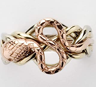 Ladies 5 Band Snake Puzzle Ring Style 5S