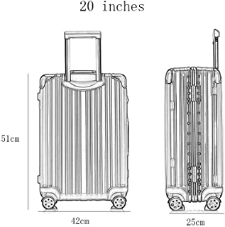 GLJJQMY Trolley Case 24 Inch Trolley Caster Suitcase Trolley case (Color : Purple, Size : 26 inches)
