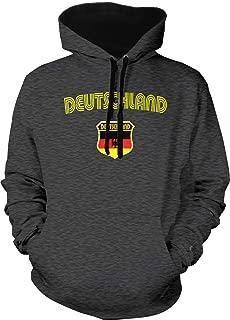 Amdesco Men's Germany German Flag Crest Deutschland Two Tone Hoodie