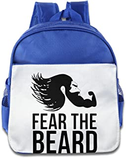 XJBD Custom Cool Fear The Beard Strong Boys And Girls Shoulders Bag For 1-6 Years Old RoyalBlue