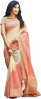 بلوزة ساري للنساء الهندية التقليدية من القطن الخالص مع نصف نسيج 5741