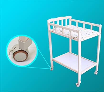 Ali  Baby Changing Table 0 5 Months Baby Pine Wood Massage Table Touch Table with Casters Removable Shower Stand Diaper Table Long Wide High Load  Size Wheels