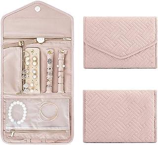 Travel Jewelry Organizer Roll Foldable Jewelry Case,Jewellery Box Organizer for Journey-Rings, Necklaces, Bracelets, Earri...