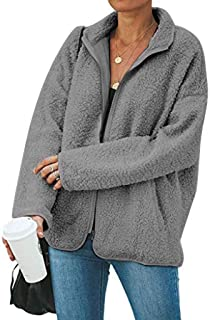 Zimaes-Women Pullover Hoode Fall Winter Mid-Long Fuzzy Baggy Sweatshirts
