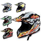 Hecht Motocrosshelm 53915 Motorrad-Helm Enduro ABS Quadhelm