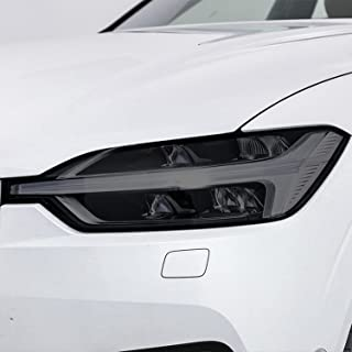 NCUIXZH2 peças de filme protetor de farol de carro preto fumado envoltório de vinil adesivo TPU transparente, para Volvo ...