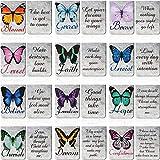 12 Segnalibri Magnetici di Farfalla Segnalibri Magnetici di Citazioni Ispiratrici Marcatori di Pagina Magnetici Marcatori di Libri Assortiti Set per Studenti Insegnanti Ufficio Casa Scuola