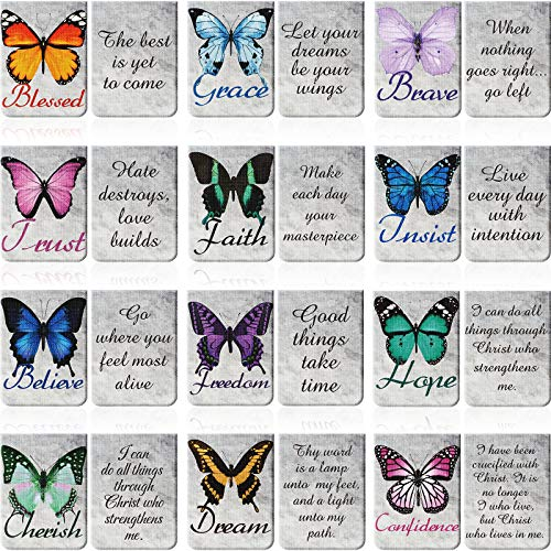 12 Pieces Butterfly Magnetic Bookmarks Inspirational Quotes Magnetic Bookmarks Magnet Page Markers Assorted Book Markers Set for Students Teachers School Home Office Supplies