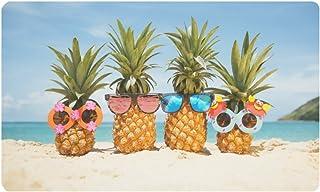 InterestPrint Funny Tropical Summer Beach Pineapples Doormat Non-Slip Indoor and Outdoor Door Mat Rug Home Decor, Entrance...