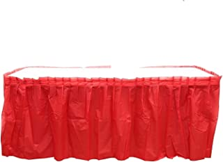 4 Pack Red Table Skirt Carnival Circus Birthday office party Decorations