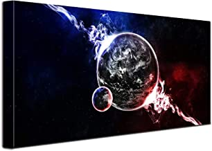1 Panels Banksy Ice and Fire Abstract Planet Large Modern Stretched And Framed Giclee Canvas Prints Artwork Pictures Paintings On Canvas Wall Art for Office Home Decorations