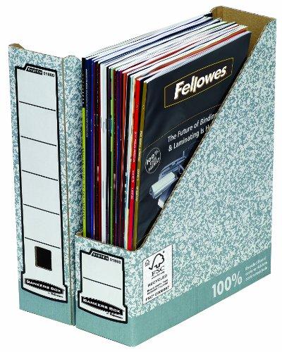 Fellowes Bankers Box - Caja revistero (10 unidades), color gris
