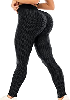 ViCherub Leggings for Women Scrunch Butt Lifting TIK Tok Yoga Pants Peach Lift High Waisted, Workout Tummy Control Tights
