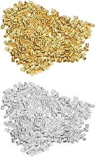 Argent Baoblaze 20 Pi/èces Fermoirs /à Pression Cuivre Argent Connecteurs de Bracelet Collier 10x7mm