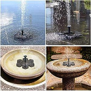 Solar Powered Fountain for Bird Bath Small Pond or Pool