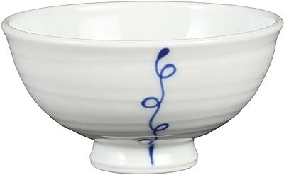 奥川陶器 一筆木の実 軽量4.0飯碗(青) 243912