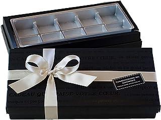 手作りチョコ 用の箱 & ラッピング道具 (リボン&手提げ紙袋付き) (10個入り用)