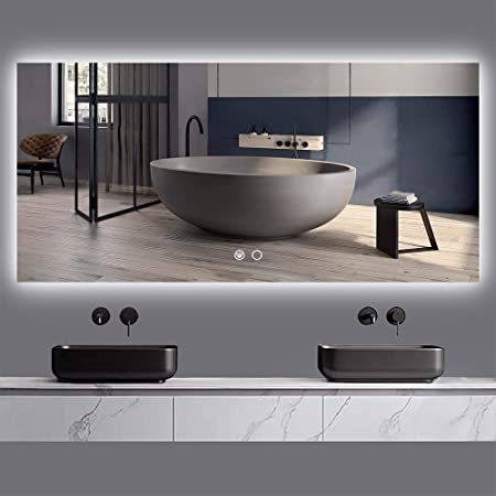 Frameless Horiztontal Vertical Hanging Mirror Es Diy 20 X 30 Inch Led Bathroom Mirror Dimmable Anti Fog Wall Mounted Makeup Mirror Gen 1 Bath Home Kitchen Fcteutonia05 De