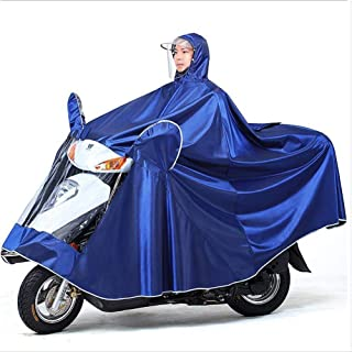 HYBAUDP Raincoat Poncho Set GLJY Oxford Cloth Motorcycling Anti-Fog Rainwear Cover with Mirror Slots Motorbike Waterproof Lengthened Poncho, Electric Mobility Scooter Motorcycle Large Rain Cape Coat