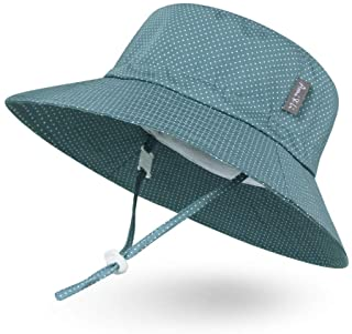 Ami&Li tots Adjustable Sunscreen Bucket Sun Protection Summer Hat for Baby Girl Boy Infant Kid Toddler Child UPF 52