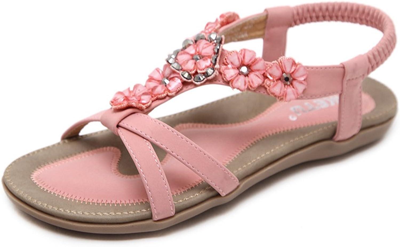 Women's Flat Sandal Rhinestone Thong Sandals Beach shoes Slingback shoes Casual shoes Travel