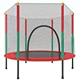 55inches Trampoline for Kids Mini Toddler Trampoline with Safety Enclosure Net,4.5Ft Durable Recreational Trampolines for Indoor Outdoor,Max 220Lb,Assemble Easily,Gifts for Boys Girls Age 1-7