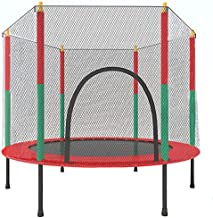 55inches Trampoline for Kids - Mini Toddler Trampoline with Enclosure Net Jump Mat Safety Pad Stable,4.5Ft Durable Recreational Trampolines for Indoor&Ourdoor,Max 220Lb,Assemble Easily,Age 1-6