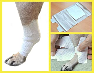 PawFlex Joint and Large Area Wound Bandages for Dogs Cats & Other Pets. Great for Leg Joint sprains and Tail Injuries! Non Adhesive Breathable Non-Slip Disposable Washable Value 10 Pack