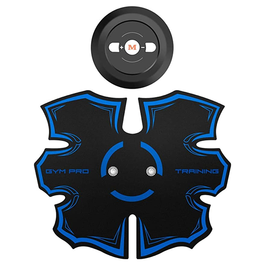 コンピューターおとなしいうまくやる()EMS筋肉刺激装置、腹筋トレーナー腹部調色ベルト筋肉トナージムトレーニングとホームフィットネス機器用男性&女性、エクストラ (Color : Blue, Size : Belly paste)