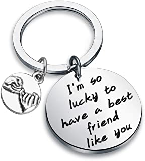 MAOFAED Friendship Jewelry Friend Appreciation Gift Gift for Friend I'm So Lucky to Have A Best Friend Like You c