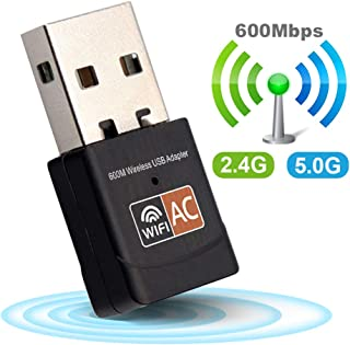 USB WiFi Adapter 2.4GHz 5GHz 600Mbps WiFi Antenna Dual Band 802.11b/n/g/ac Mini Wireless Computer Network Card Receiver