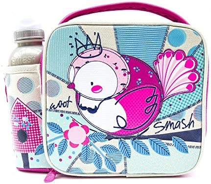 Smartfix Woot Lunch Bag Bottle case and 350ml Bottle Pink White product image