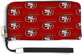 San Francisco 49er Wallet Men and Women Fashion Leather Portable Zipper Wallet, Credit Card Gift Wallet