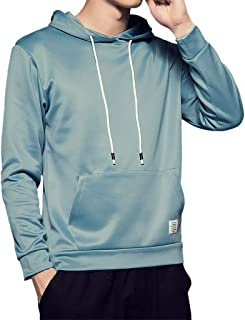 Mens Slim Fit Long Sleeve Lightweight Zip-up Hoodies with Pocket Solid Plus Size Pullover Tops Hooded Outwear WEI MOLO